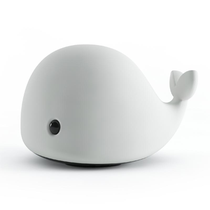 七彩硅胶小夜灯卡通小鲸鱼充电灯灯喂奶