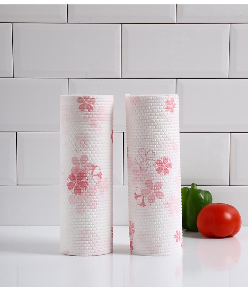 Ẩm ướt và khô món ăn vải rag lười rửa được dùng một lần giấy nhà bếp khăn tẩy rửa gia dụng nhà bếp