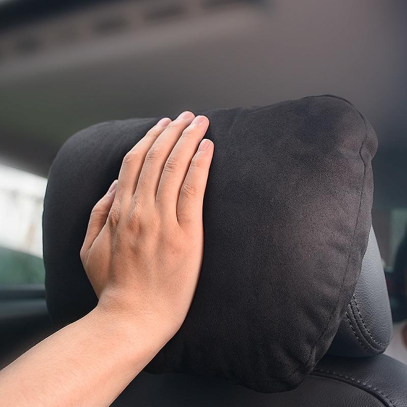 比视特奔驰S级迈巴赫汽车头枕颈椎枕头麂皮绒车用座椅靠枕护颈枕