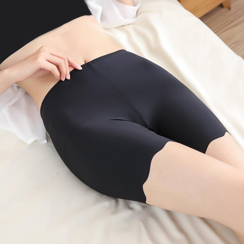 Không có quăn an toàn quần chống ánh sáng nữ mùa hè kích thước lớn băng lụa không có dấu vết góc phẳng đáy quần short bảo hiểm quần mặc phần mỏng