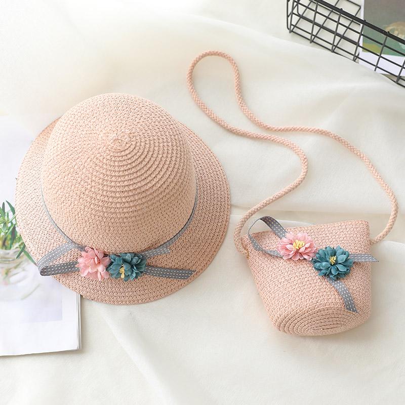 渔夫公主女防晒韩版女童草帽遮阳儿童夏季凉帽宝宝帽子沙滩太阳帽