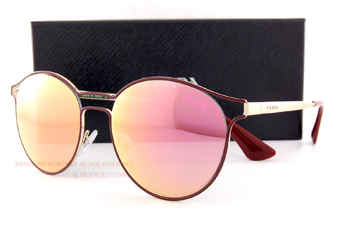 263587da5d Brand New Prada Sunglasses PR 62SS USH 5L2 Bordeaux Gold Pink Mirror ...