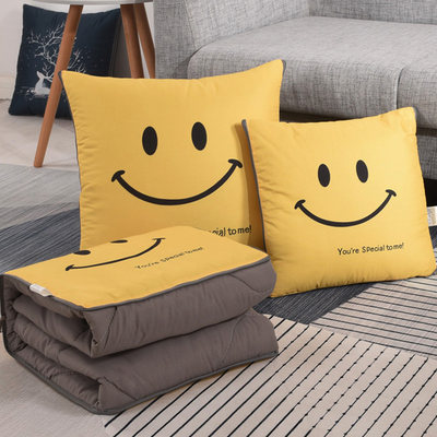 Nordic multi-function pillow quilt dual-use car sofa cushions were taken by the office relying on the pillow break folding