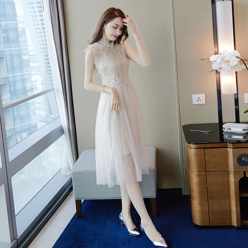 Lace Dress Female Summer 2019 New Korean Version Of The Long Section