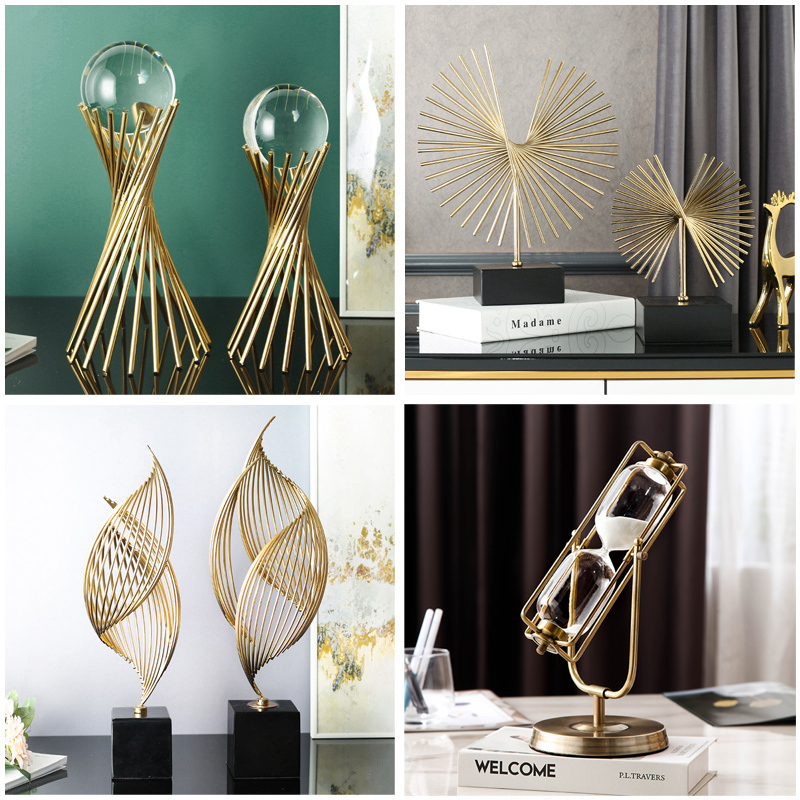 Creative modern light luxury high-end business money crystal ball office Xuanguan TV cabinet decoration living room decoration