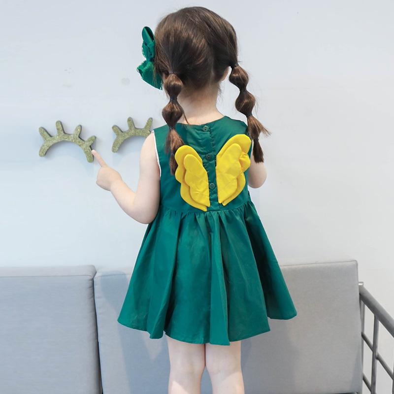 女童连衣裙2018新款夏装女宝宝小童儿童童装洋气夏季背心公主裙子