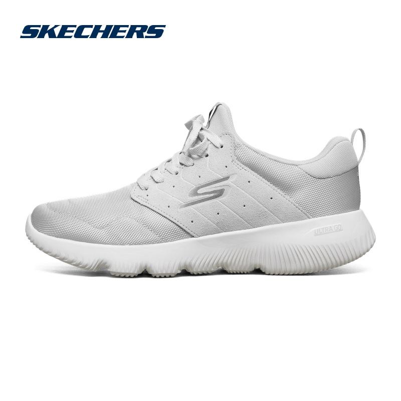 Skechers Giày thể thao nam nhẹ một chân Skechi khâu giày thể thao thông thường 55161 - Giày chạy bộ