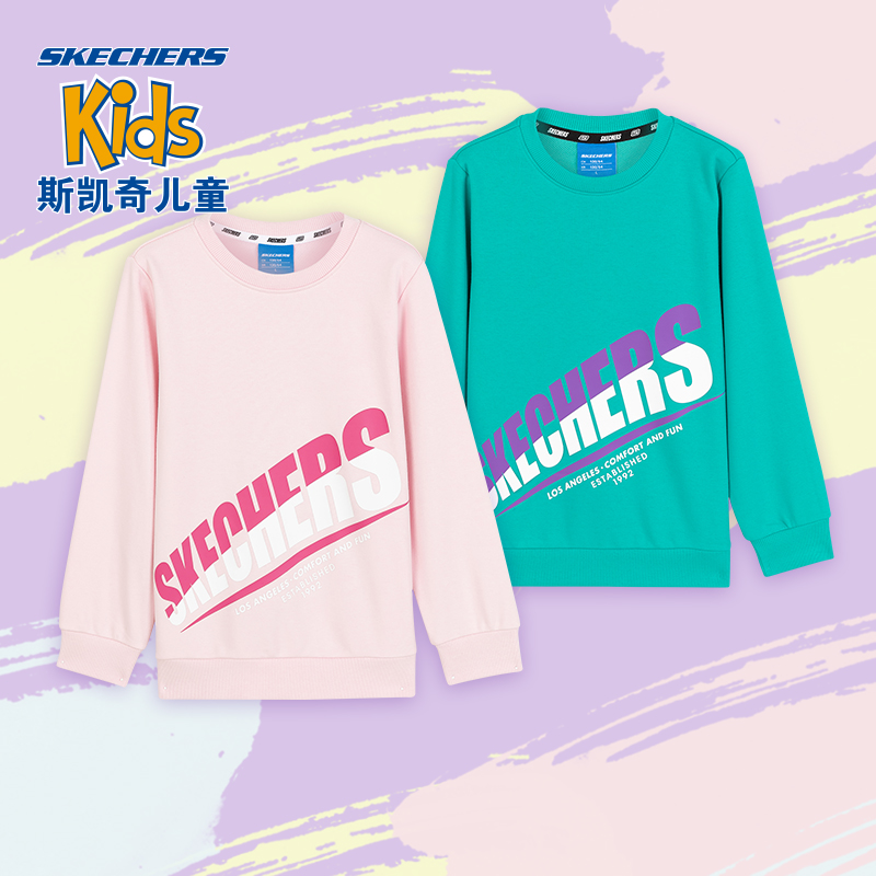 Skechers SKECHERS knitted sleeves comfortably layered with stylish thick T-shirt L320K199
