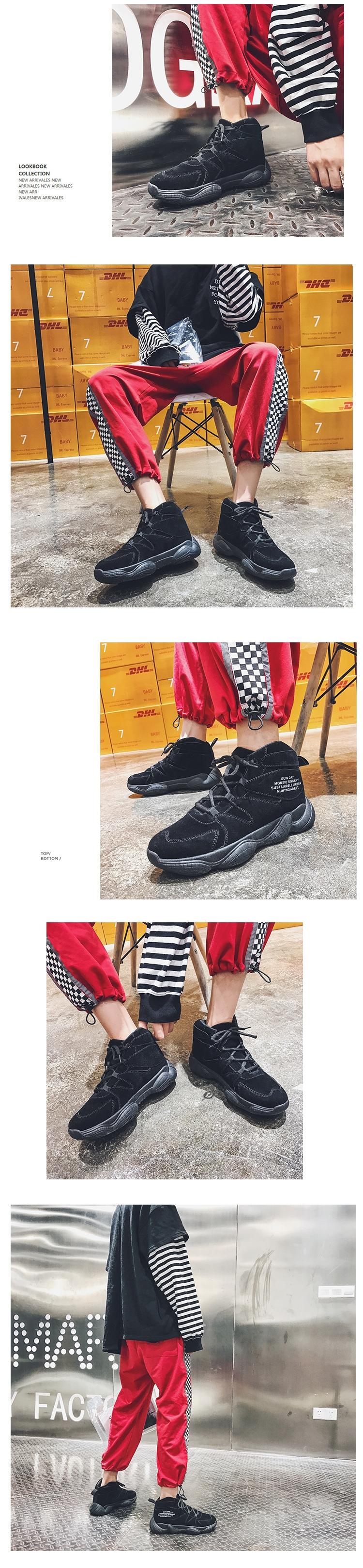 秋冬新款百搭复古高帮鞋潮流韩版街拍运动鞋xz1002-A171P60控78