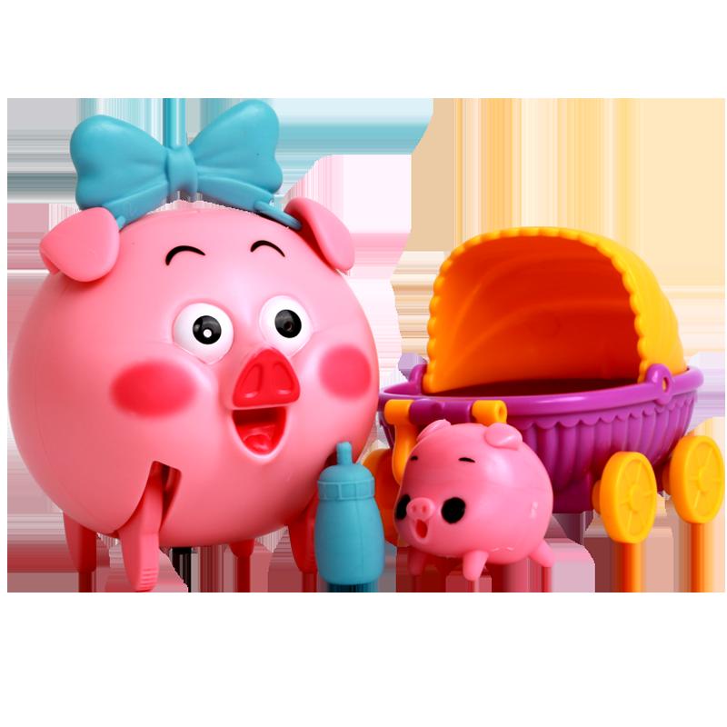 佳奇学步爬行会跑走路的小猪婴儿引导神器声控口哨宝宝娃电动玩具