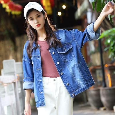 2020新款牛仔外套【爆款返场】韩版宽松显瘦牛仔外套女舒适牛仔面料