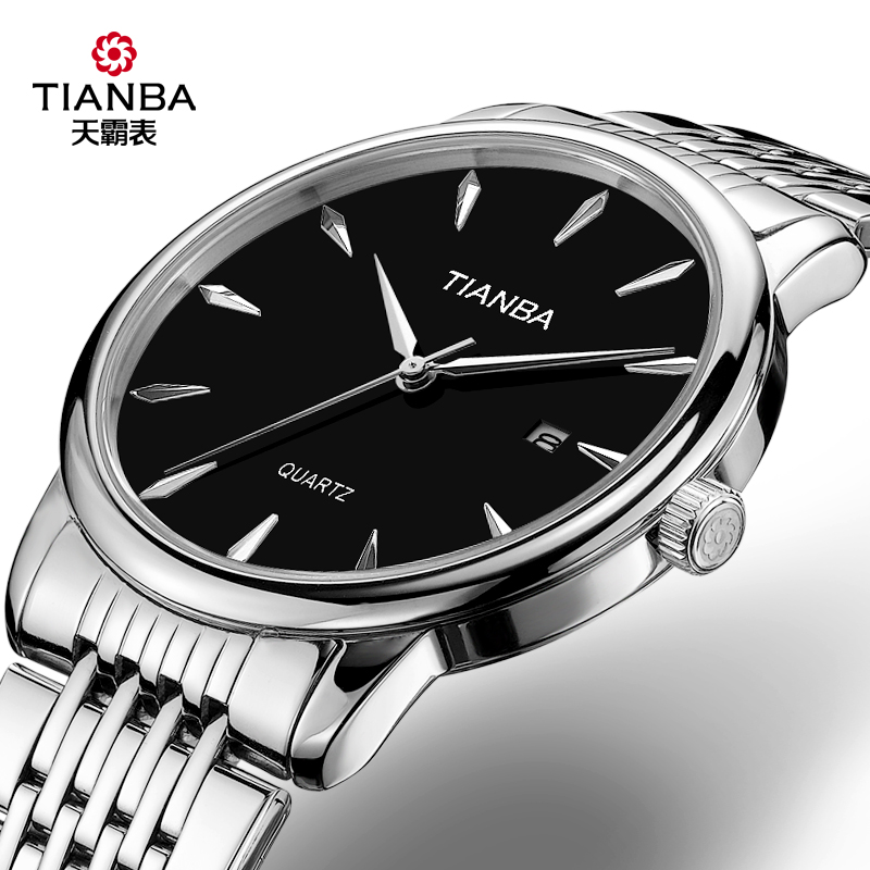TM7003.01SS MEN'S BLACK DISK SINGLE CALENDAR