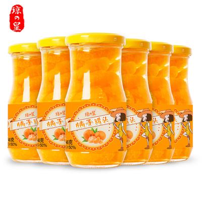琼皇橘子罐头桔片爽248g*6罐
