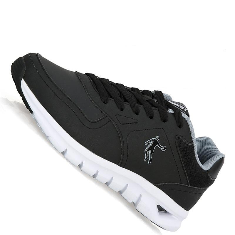 乔丹男鞋舒适跑步鞋纯黑色运动鞋 减震复古软底休闲鞋旅游鞋生活