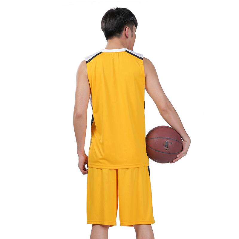 Jordan quần áo bóng rổ phù hợp với chàng trai vàng jersey mùa hè không tay T-Shirt shorts thoáng khí và nhanh chóng làm khô thể thao giản dị