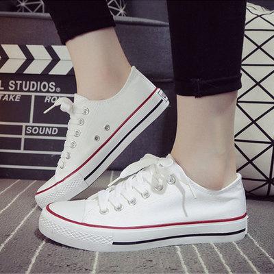 帆布鞋男春季低帮学生韩版潮流板鞋布鞋情侣百搭休闲运动鞋小白鞋