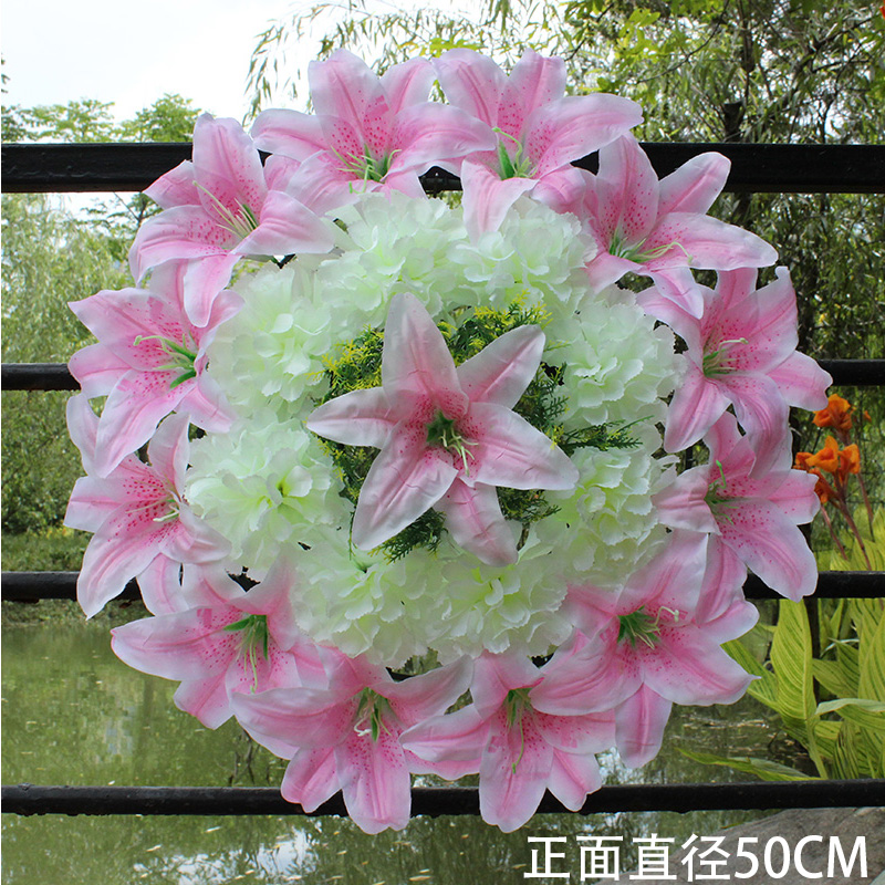 Usd 802 silk flowers qingming flower grave flower chrysanthemum silk flowers qingming flower grave flower chrysanthemum simulation flower big wreath fake flower cemetery decorative flower factory wholesale cheap flower mightylinksfo