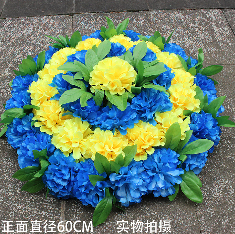 Usd 1027 cheap silk flower qingming flower big wreath sweep tomb cheap silk flower qingming flower big wreath sweep tomb flower simulation chrysanthemum circle manufacturers wholesale worship mightylinksfo