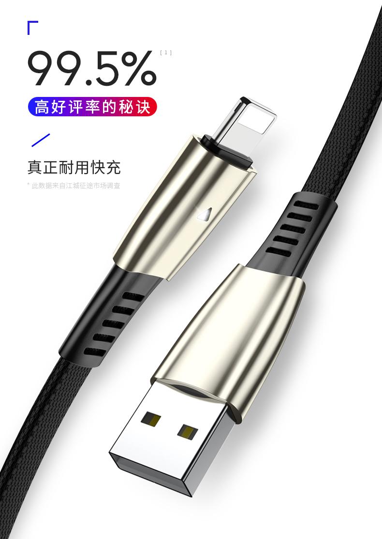 江城买送苹果数据线充电线手机快充闪充六加长米衝电平板电脑短八弯头详细照片