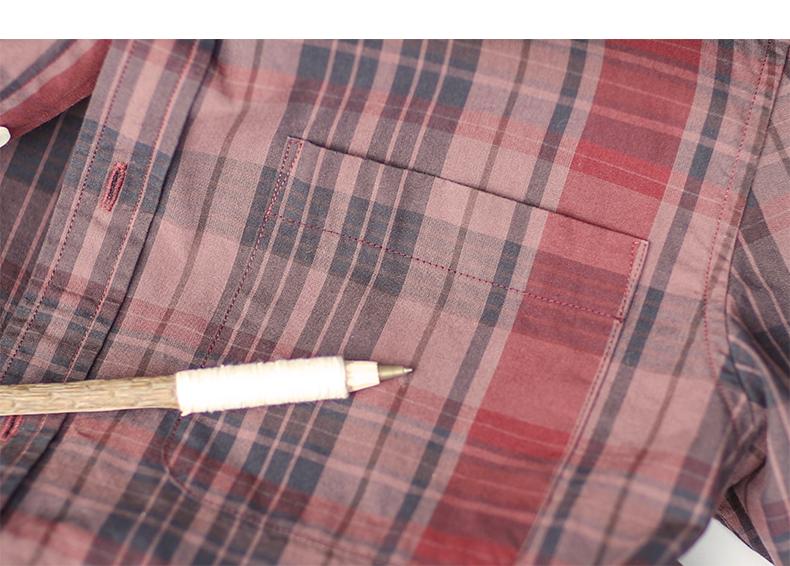 Farlane wang check shirt men's long-sleeved cotton lined clothes retro Korean version slim spring and autumn youth casual inch coat 36 Online shopping Bangladesh