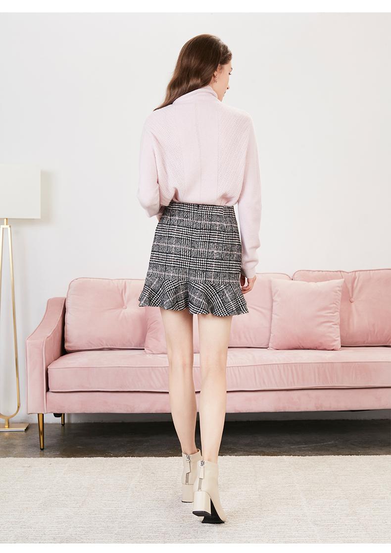 拉夏贝尔格新款女士半身裙a字裙高腰包臀裙