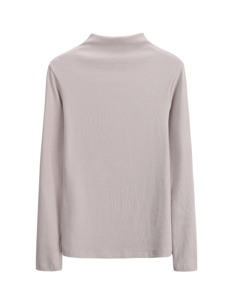 半高领打底衫女长袖t恤纯棉修身加厚紧身上衣内搭2018秋冬新款【包邮】 - 最低购