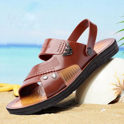 奥兰堡 夏季男士透气防滑沙滩凉鞋