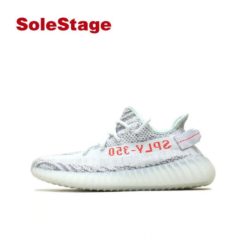 promo code 839a7 735b3 Adidas Adidas Yeezy Boost 350 Grey Ice Blue Zebra Coconut Running Shoes  B37571