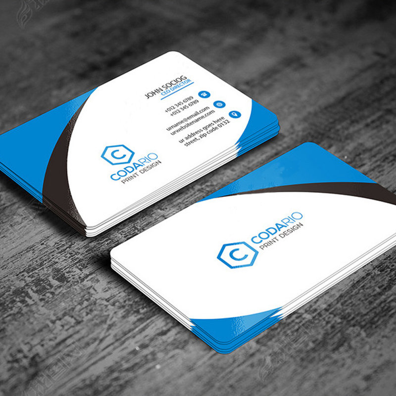 Aolson business card production business company color QR code ...