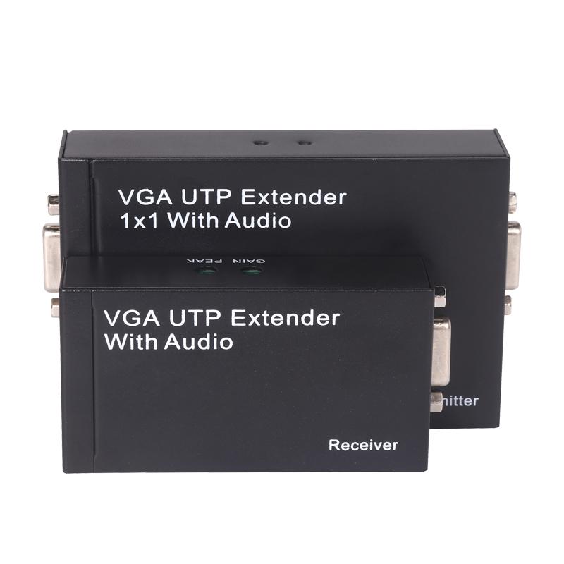 Сетевой удлинитель VGA-удлинитель 100 один сетевой кабель, чтобы перейти RJ45 сетевой усилитель сигнала контроллера передача HD-Аудио с разрешением 1080p