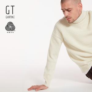 GT Saturni nam 100% tinh khiết mới len áo len mùa đông mới thanh niên cao cổ áo len nam tự trồng