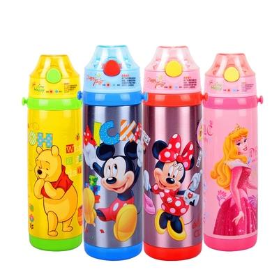 迪士尼儿童保温杯带吸管两用防摔防漏304不锈钢小学生宝宝水杯