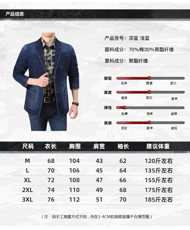 Denim jacket men casual business single suit top spring and autumn Korean version trend retro suit jacket 41 Online shopping Bangladesh