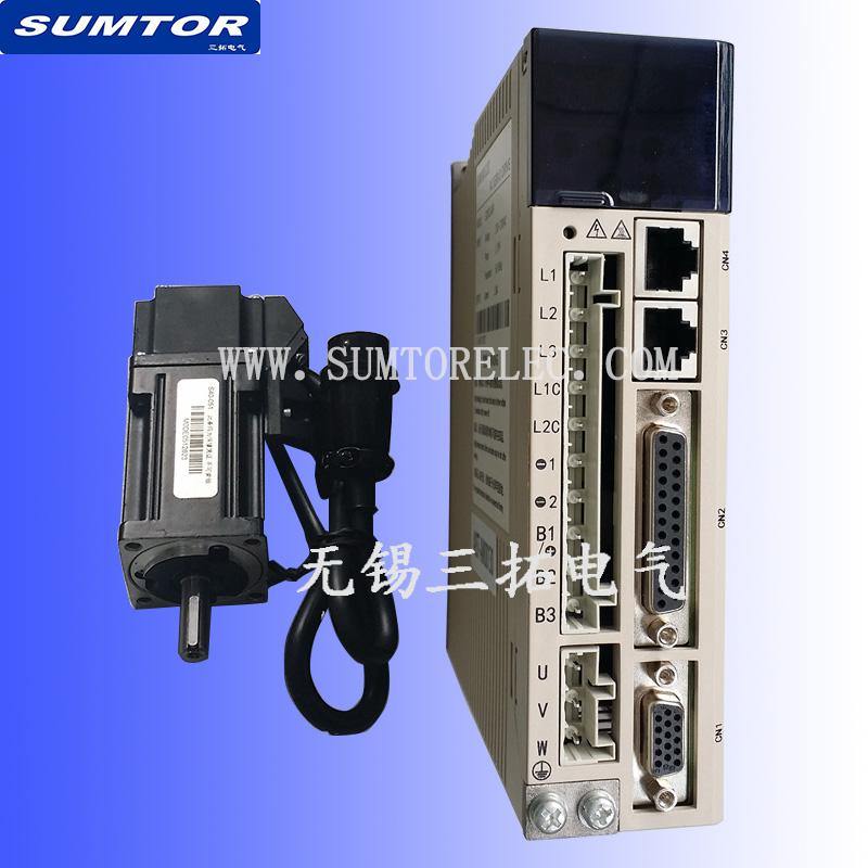 交流220v伺服电机驱动器套装40~80系列50W200w600w交流三拓电气