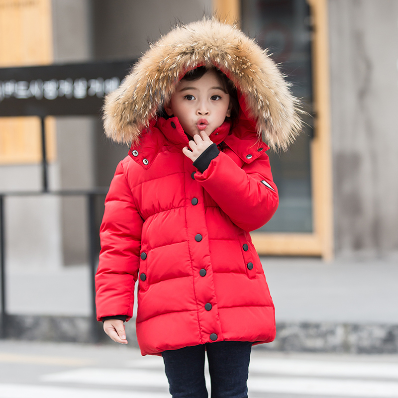 05b11b96f USD 182.07  2018 new girls down jacket in the long section of the ...