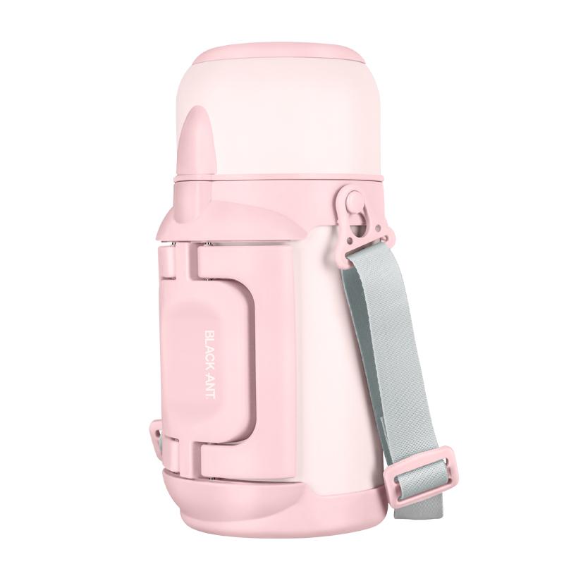黑蚁保温壶大容量女生便携户外水杯保温瓶宝宝婴儿外出水壶1000ml