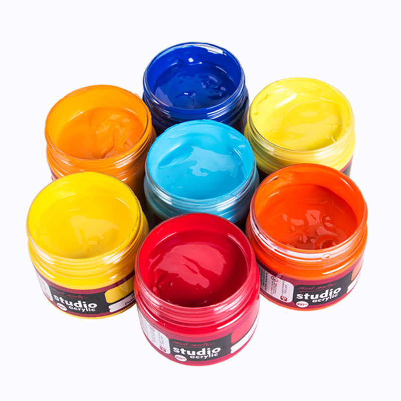 Montmartre White Acrylic Paint Set Wholesale 100ml Hand Painted Wall Painted Bing Dilute Graffiti Painting Materials