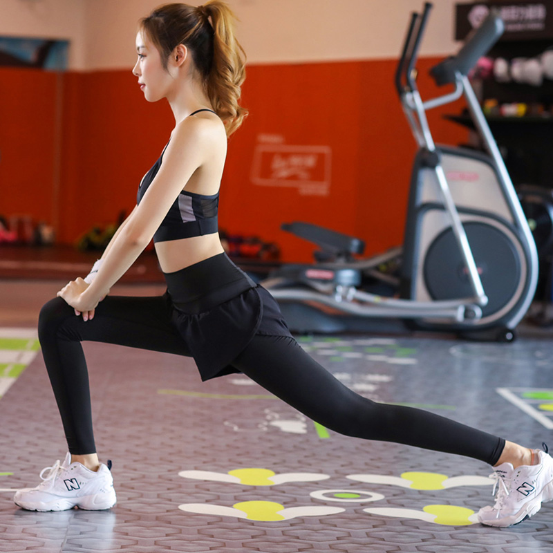 c73cd45294d62 Gym high waist sweatpants female autumn quick dry two pieces of ...