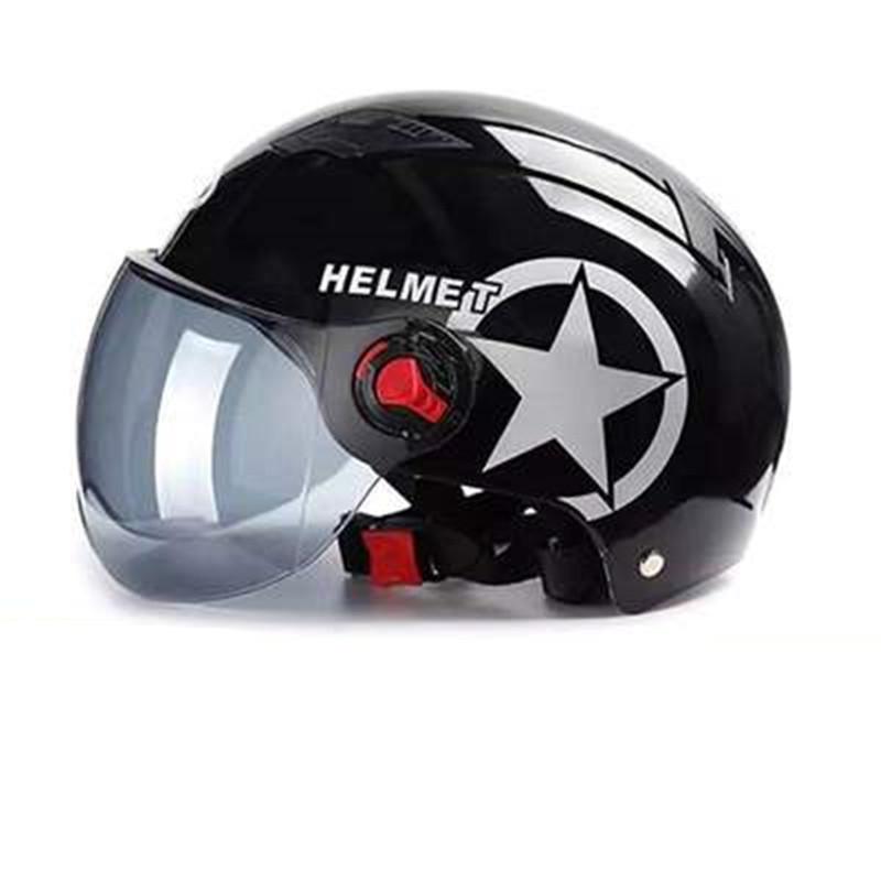 夏天头盔男女士四季防晒可爱网红安全帽电动摩托车头围大小可调节