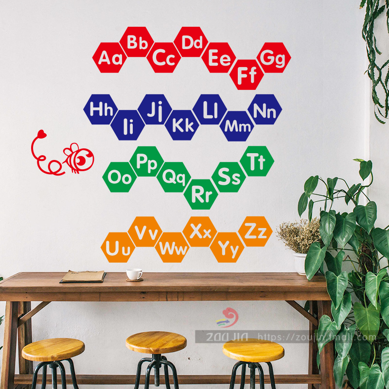 26 English Letters English Wall Stickers Early Education Center Kindergarten Children S Room Decoration Painting Primary School Classroom Layout