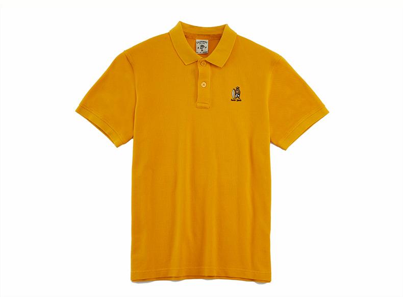 WHO. A. U2018 mùa hè mới POLO áo rắn màu lướt gấu thêu T-Shirt nam WHHA823M10 áo phông polo nam