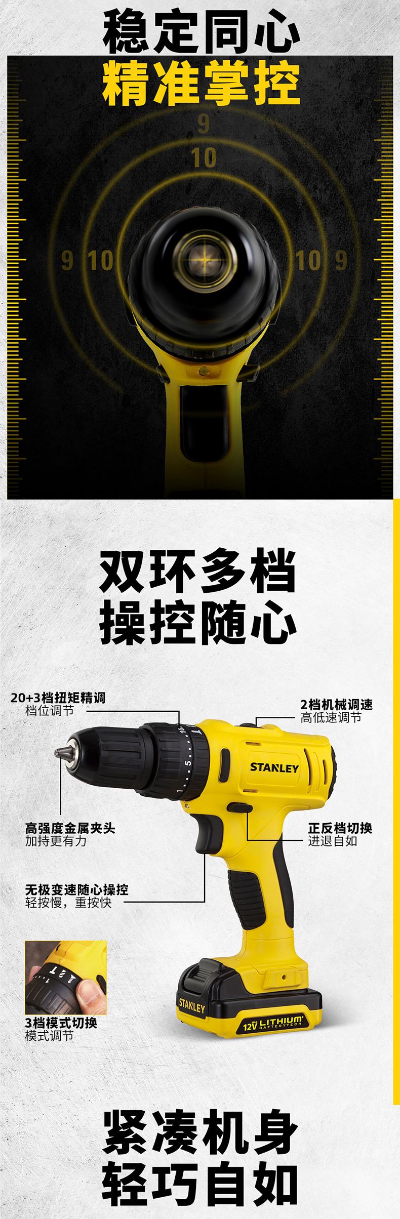 世界知名工具品牌 史丹利 手工具套装家用维修 图4