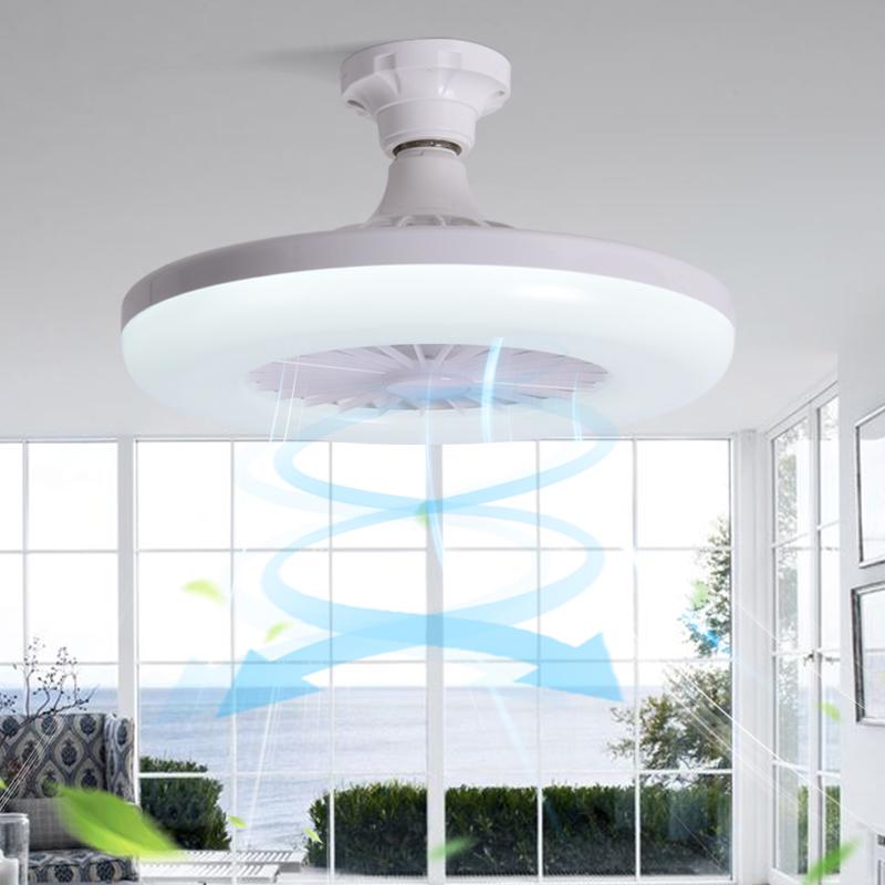 E27新品螺口吸吊两用型小型风扇灯吸顶吊扇厨卫超静音LED风扇灯