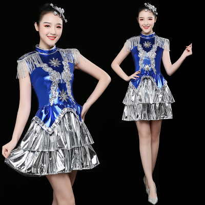 Jazz Dance Costumes Jazz Dance Costume Modern Dance Costume Suit Fashionable Sexy Sexy Sexy Sexy Sex Stage Costume Female Adults