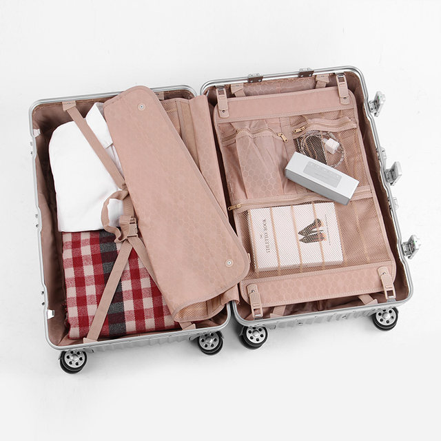 Lusidi aluminum frame trolley case universal wheel 20 inch suitcase male 28 inch password box suitcase female luggage