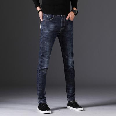 秋季男士牛仔裤青少年小脚裤韩版