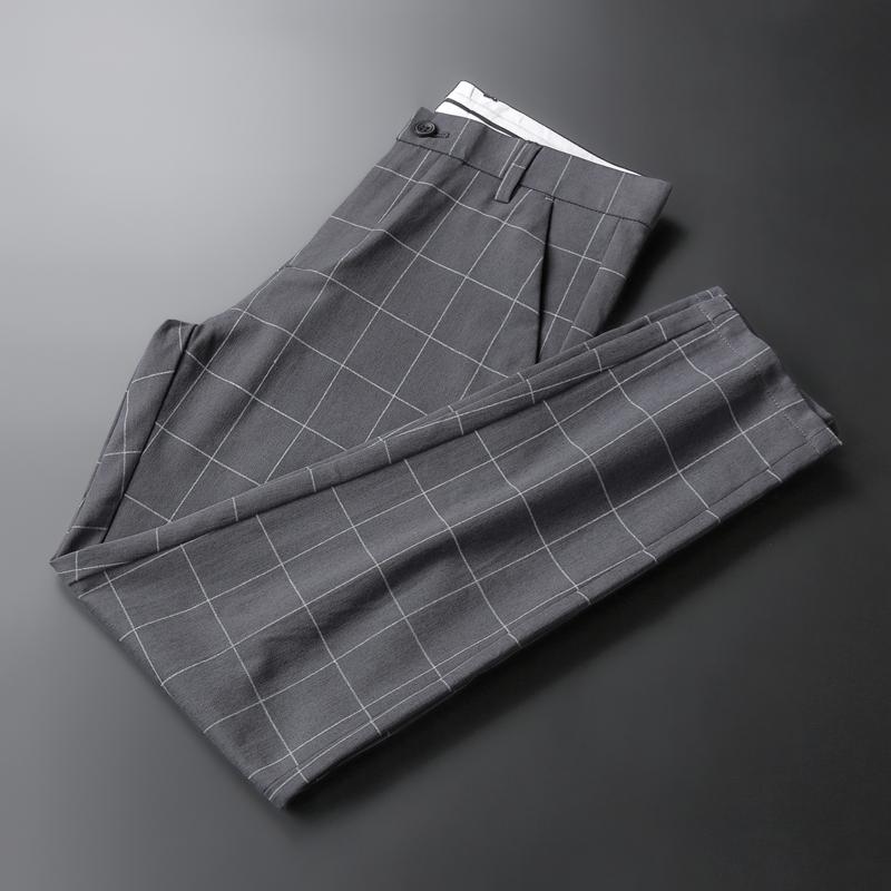 九分格子小脚裤,英伦情调尽显绅士品格