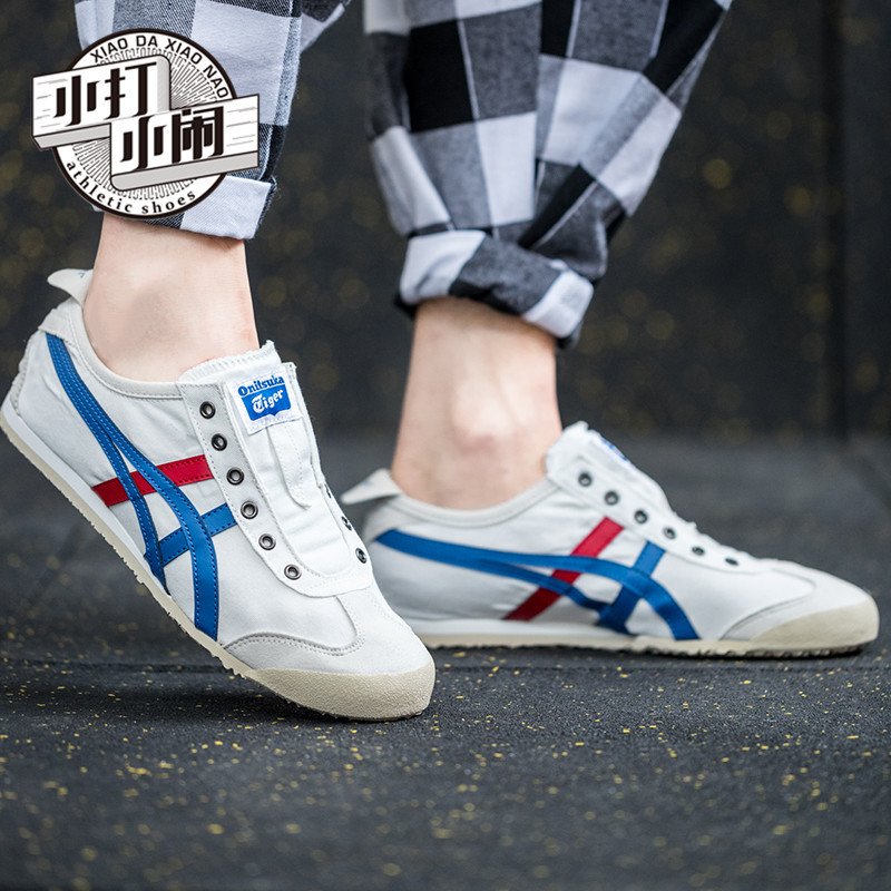 cheaper 153f1 126a1 Onitsuka Tiger one foot sneaky tiger canvas shoes men and women casual  shoes TH1B2N/D3K0N-0143