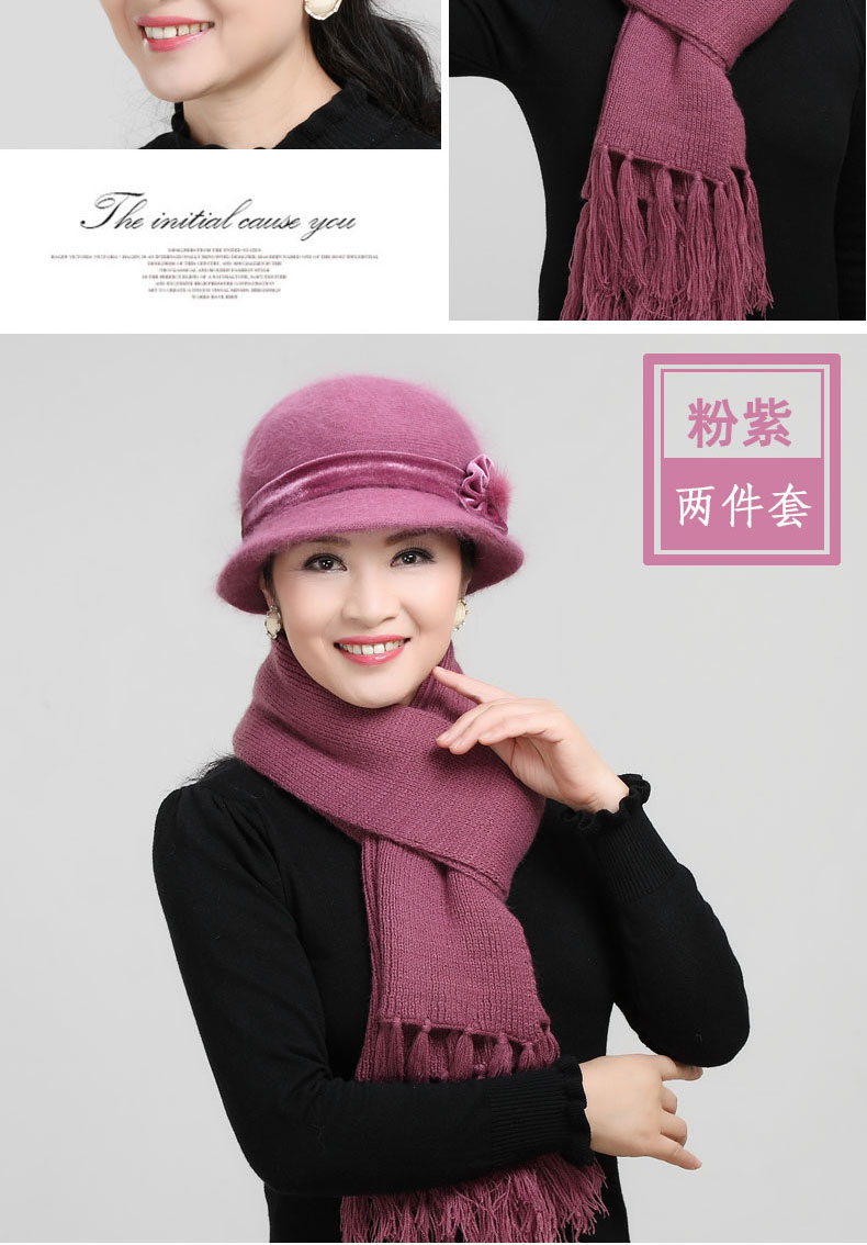 89137c481 Knitted Yarn Middle Aged And Elderly People Autumn And Winter Days Old Man  Hat women Winter Grandma Mrs. Warm Mom Cap Scarf