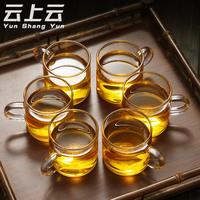 Чаинка чашка усилие чайный сервиз домой с прозрачное стекло пузырь чай статья чайный куст чашка 6 только установлен мини черный чай